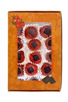 Rakytník želé s čokoládou 64% - bonboniéra 15 ks